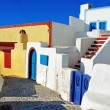 Colored streets of cyclades islands — Stock Photo