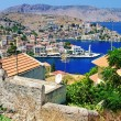 Beautiful view of bay - Symi island — Stock Photo