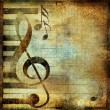 Musical background in grunge style with place for text — Stock Photo