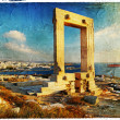 Naxos island,Greece - vintage picture - Stock Photo