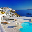 Romantic holidays - Santorini resorts — Stock Photo #12798604