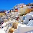 Amazing romantic Santorini island, Greece - Stock Photo