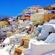 神奇浪漫圣托里尼岛希腊 — 图库照片