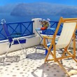 Greek holidays - romantic Santorini - Stock Photo
