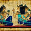 Ancient egyptian parchment — Stockfoto