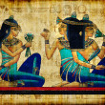 Ancient egyptian parchment — Stock Photo
