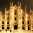 Milan cathedral - italian landmarks series-artistic toned picture - Stock Photo