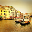 Stok fotoğraf: Amazing Venice on sunset - artistic toned picture