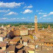 View of old Siena city -Tuscany (Italy) - Stock Photo