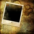 Vintage grunge background with instant photo frame — Stock Photo