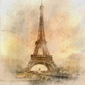 Retro styled background - Eiffel tower — Stock Photo