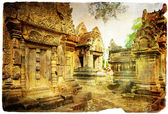 Ancient cambodian temple - artistic toned picture — Stock Photo