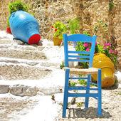 Colores de grecia - estilo de la aldea tradicional — Foto de Stock