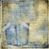Vintage jeans background — Stock Photo