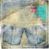 Trendy vintage background with pockets — Stock Photo