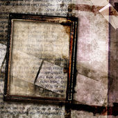 Grungy abstraction with frames — Stock Photo
