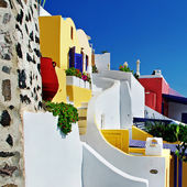 Colored Santorini, resorts of Fira — Stock Photo