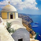 Santorini - fira vista città — Foto Stock