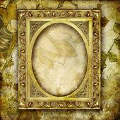 Dekorativer hintergrund mit goldenen entlebuch — Stockfoto