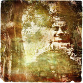 Ancient Cambodia - artwork retro series — Stock Photo
