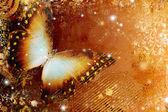 золотой абстракция с бабочкой — Стоковое фото