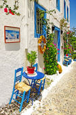 Traditional Greece series - street tavernas — Stock Photo