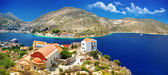Islands of Greece - Kastelorizo with beautiful view of bay and church — Stock Photo