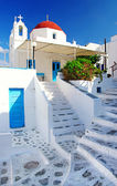 Traditional Cycladic architecture - Milos island — Stock Photo