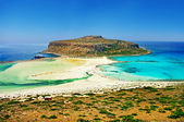 Beautiful beaches of Greece - Crete Balos bay — Stock Photo