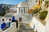 Colors of Santorini - pictorial Fira town — Stock Photo