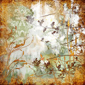 Autumn background in golden colors in grunge style — Stock Photo