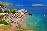 Pictorial beaches of Greece - Hydra island — Stock Photo