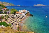 Pictorial beaches of Greece - Hydra island — Stock Photo