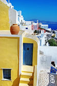Colors of Greece series - Santorini, traditional cycladic architecture — Stock Photo