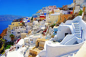 Amazing romantic Santorini island, Greece — Stock Photo