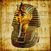 Egyptian papyrus with pharaoh — Stock Photo