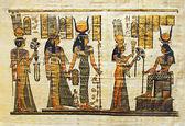 Egyptian ceremonial papyrus — Stock Photo