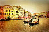 Amazing Venice on sunset - artistic toned picture — Stock Photo
