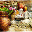 Stock Photo: Pictorial courtyards of Greece
