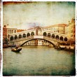 Venetian pictures - artwork in retro style — Stock Photo #12809936
