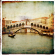Venetian pictures - artwork in retro style — Stock Photo
