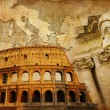 Stock Photo: Great Roman empire - conceptual collage in retro style