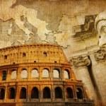 Great Roman empire - conceptual collage in retro style — Stock Photo