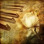 Romantic melody - vintage background — Stock Photo