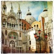 Amazing Venice - painting style series - San Marco square - Stock Photo