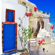 Stock Photo: White - blue Santorini - traditional architecture