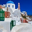 Beautiful white-blue Santorini - Stock Photo