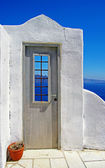Architectural details of Santorini - traditional cycladic style — Stock Photo