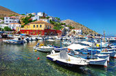 Pictorial ports of Greek islands - Hydra — Stock Photo