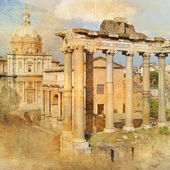 Great antique Rome - artwork in retro style series — Stock Photo
